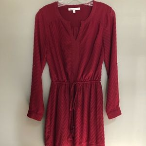 Adorable red long sleeved dress